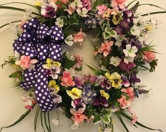 Easter Wreath. Spring Wreath. Summer Wreath. Front Door Wreath.