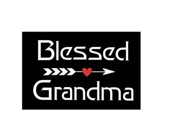 Blessed Grandma Vinyl Decal, Grandma Decal, Car Decal, Window Decal, Laptop Decal, Sticker