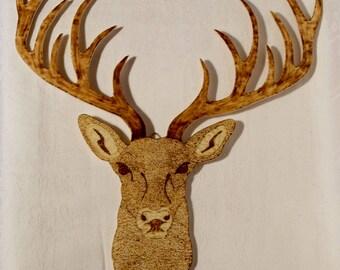 Deer with huge antlers