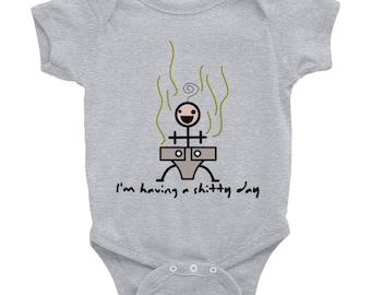 I'm Having a Shitty Day, Infant Bodysuit, Unisex Bodysuit, Baby Bodysuit, Baby Shower Gift, Funny Baby Outfit, Poopy Diaper, Silly Bodysuit