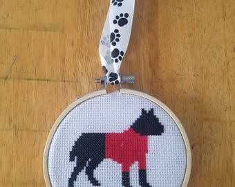 Custom Pit Bull Silhouette Ornament