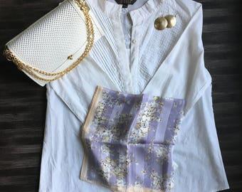 Anne Klein Lavender/Millet Square silk scarf