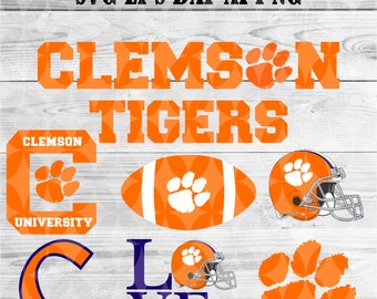 Clemson university svg,team,logo,svg,png,eps,dxf,files for cricut,silhouette,collegiate,ncaa,banner,shirt,tigers,decal,vinyl,football svg
