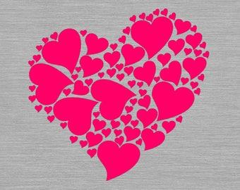 Valentine svg, valentines heart svg, hearts svg