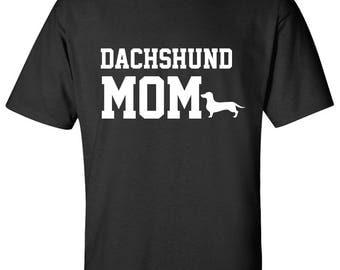 Dachshund Dog mom 100% Cotton Graphic Logo Tshirt