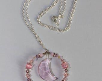 """""""Necklace"""" Moonlight Swarovski Crystal pink nickel"""