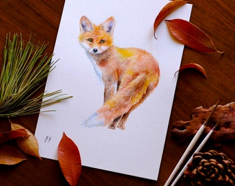 Fox Watercolor Fox Nursery Wall Art Red Fox Painting Fox Gift For Her Gift For Him Gift For Kids Fox Wall Art Decor Forest Animal Watercolor
