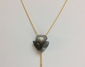 Poppy Silver - Gold metal chain necklace