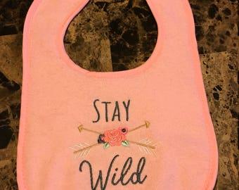 Stay wild bib