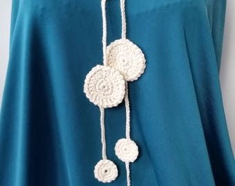 crochet necklace, mother's day gift, gift for her,gift idea