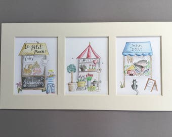 Market Place giclee print
