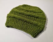 Green Hand Knitted Beautiful Winter Hat For Women - Hand Knitted - Winter Hats - Women Fashion - Women Hats