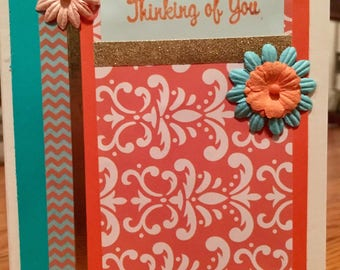 """One of a kind """"Thinking of you"""" greeting card"""
