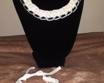Crochet Necklace + Bracelet Sets