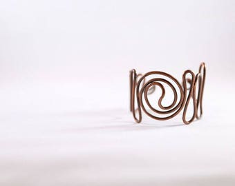 Copper Wire Wrapped Bracer