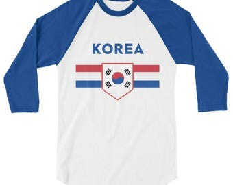 South Korea Retro 3/4 Sleeve Shirt