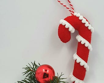 Christmas decorations Candy Cane with pompons