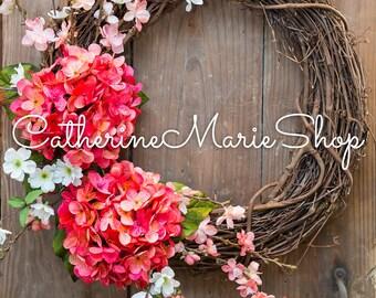 Grapevine Floral Wreath