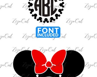 Minnie mouse svg, Minnie Mouse Monogram Svg.