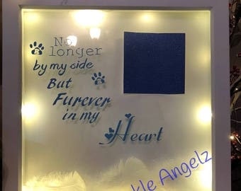 Pet Loss Frame/Pet Loss Gift Ideas/Pet Loss Picture Frame/Personalised pet loss Frame/Personalised Handmade Frame