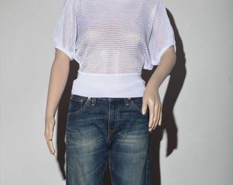 White top transparent 80 s
