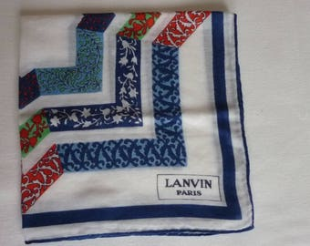 Handkerchief woman brand Lanvin Paris Made in France