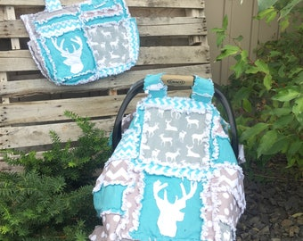 Addy Mae Rag Quilt Pattern for a Car Seat Canopy - Girl Quilt Pattern - Boy Sewing Pattern - Baby Quilt Patterns - Baby Quilt to Make