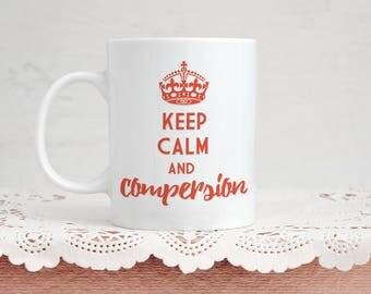 Funny Polyamory Mug Gift - Keep Calm and Compersion - 11 Ounce Coffee and Tea Mug for Polyamorous Valentine's Day Gift