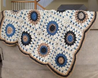 Handmade Crochet Square Baby Blanket