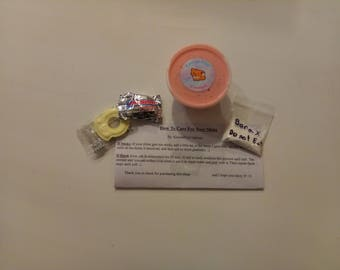 V-Day Pink Glossy 4 oz Slime - W/ Care Sheet, and Borax