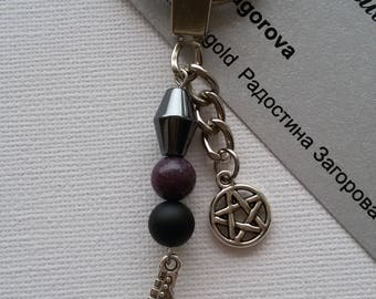 Pentagram with Electric Guitar Keychain / Perfect Valentine's Day Gift