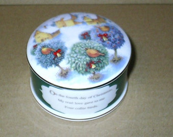 Wedgwood 12 Days of Christmas 3 French Hens Box RARE MISPRINTED