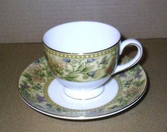 Wedgwood Floral Tapestry Cup & Saucer