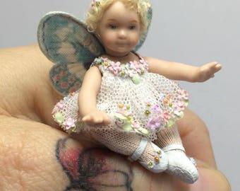ALMA-Handmade Porcelain Doll, 1:12 scale