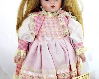 "16"" Dynasty Doll Collection ""Maria"" Porcelain  Tags&Stand"