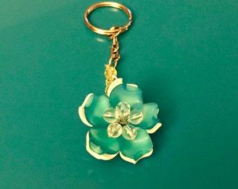 Bead flower keychain
