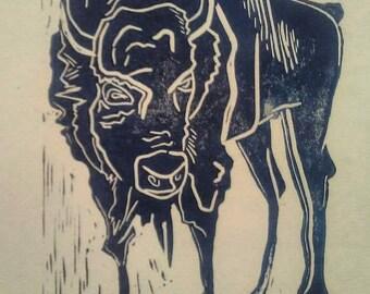 Buffalo Relief Print
