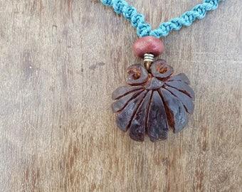 Handmade necklace- avocado stone