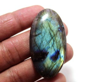 105.85cts Natural Multi flash Labradorite oval  52X27X8 mm Labradorite loose gemstone amazing & beautifull Labradorite nice flash AA-67
