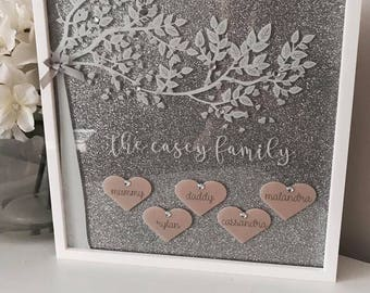 Personalised Family Tree Glitter Plaque