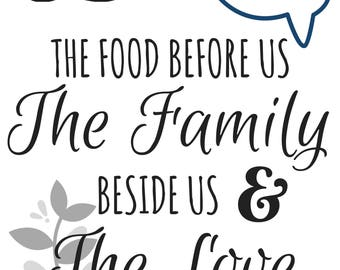Sly image with bless the food before us printable