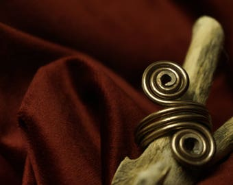 Bronze Aluminium Ring// Double Spiral Ring// Adjustable Ring// Wire Ring// Gift for Her// Spiral Ring