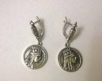 Tigran great silver earring armenian jewelry armenian earrings unique earrings for women silver ring earring blue quartz 925 silver earrings