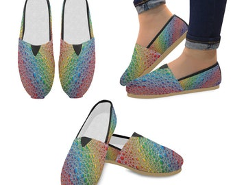 Rainbow Drops Slip-On Shoes