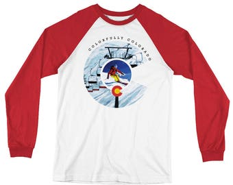 Colorado Long Sleeve Baseball T-Shirt - Under the Lifts