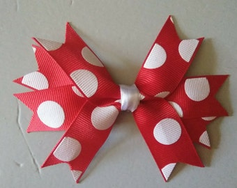 Red and white hair bow.