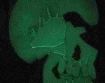 Glow in the Dark Skull Sculpture