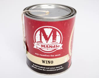 Wine Lover's Eco Man Candle