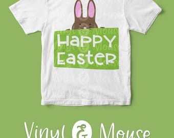 Happy Easter Bunny SVG Cutting File, Cricut Cameo svg dxf, Cute Bunny svg, Happy Easter svg, easter bunny svg, Easter dxf, Easter Iron On