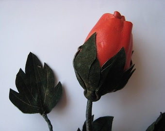 Rose made of leather